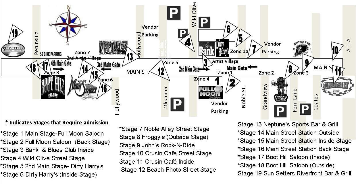 daytona s mainstreet live 2017 feb 11th parking best is the ocean center parking lot next to the peabody auditorium 5 per car from the west turn left on peninsula dr where main street is